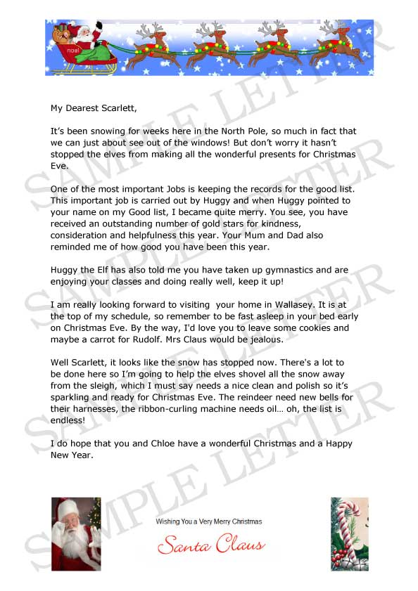 Letter from Santa Claus for Wirral